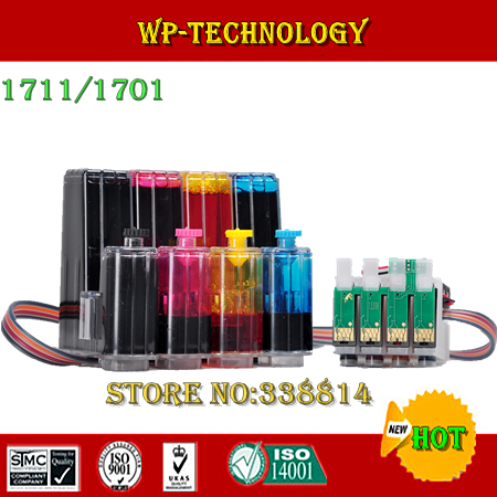 [Full Dye ink] CISS suit for Epson T1711 - T1714,T1701 - T1704 , suit for Epson xp-103,33,203,207,303,306,403.406,with ARC chip ciss suit for epson stylus photo r1900 suit for t0870 t0871 t0879 series fulll dye ink ciss with arc chips