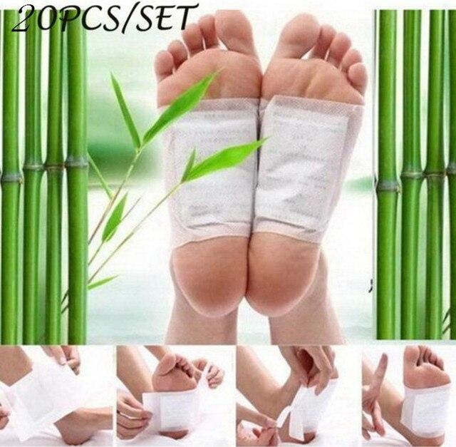 20 штук = (10 шт патчи + 10 шт клеи) Детокс ножной пластырь колодки телесные токсины ноги похудения очищающий травяной адгезив пластырь