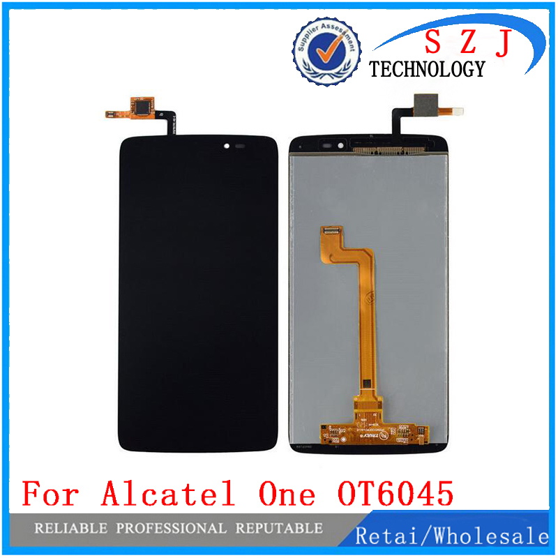 New 5.5'' inch case LCD DIsplay+Touch Screen Digitizer Assembly For Alcatel One Touch Idol 3 OT6045 6045 6045Y 6045F white black 1 pcs for alcatel one touch idol x 6043 ot6043 lcd display with touch screen digitizer assembly free shipping