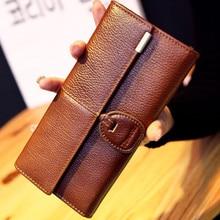 women Genuine cowhide Leather Wallet Clutch purse bags fashion brand design zip women long wallets purse female bags belt purse