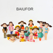 Anime Girl Terrariums Figurines Action Figures Plastic Crafts