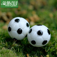 2 pcs mos micro-landschap ornamenten leuke simulatie mini-voetbal basketbal DIY assemblage kleine ornamenten(China)