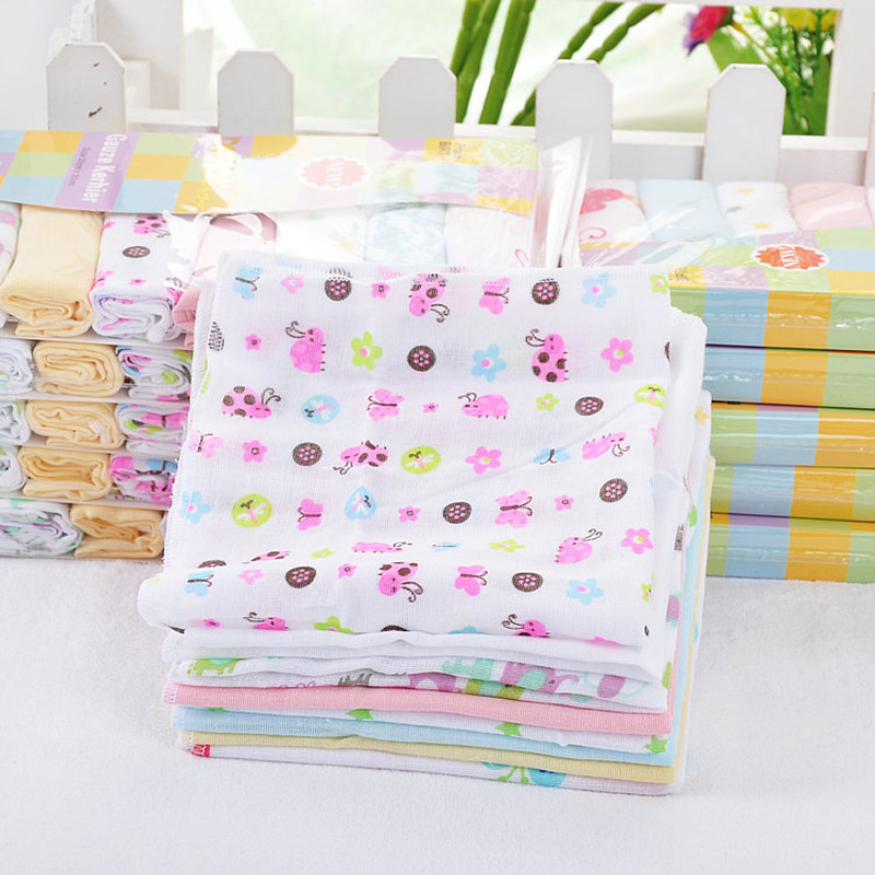 8Pc/LOT  Baby Double Gauze Handcraf  Towels Kerchief Nurse Towel Cotton Handkerchief
