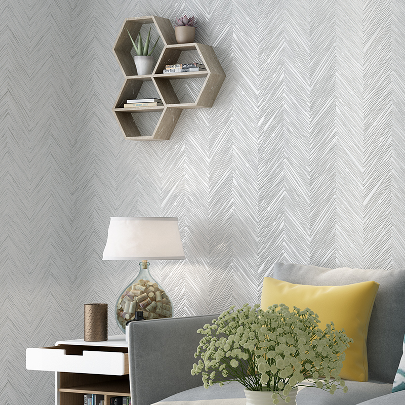 US $16.8 52% OFF|Grey,Cream white,Coffee,Beige Bedroom Living Room Textured  Wallpaper Modern Plain Zig zag Wall Paper 10M Home Decor-in Wallpapers ...