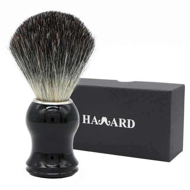 HAWARD Бритва мужская 100% из Натурального Волоса барсука щетка для бритья черная пластиковая ручка для классического традиционного бритья