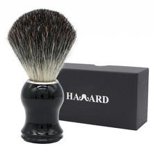 Havard бритвы для мужчин 100% из Натурального Волоса барсука бритья Кисточки черный пластик ручка для классический традиционный