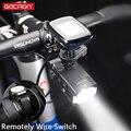 Gaciron 500/800LM умный велосипедный передний светильник, держатель для велосипеда GoPro, перезаряжаемый головной светильник для шоссейного велосип...