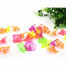 10 Pcs/set For Party Favors Supplies Sent Random Kids Hands Spinner Toys Plastic Spinning Top Retro Classic Toy(China)