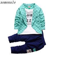 2017 New Spring AutumnToddler Baby Boy Formal Clothing Wear Fashion Sets Newest Boys Clothes Suit 2PCS