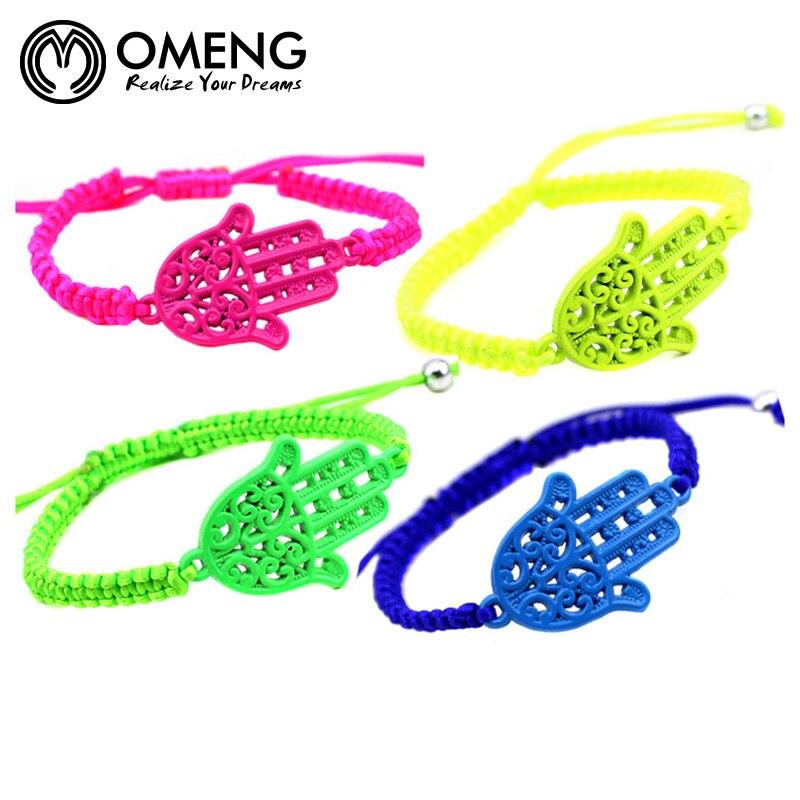 OMENG Fashion Women Hand charm stretch braceletes femme handmade jewlery brazaletes pulseras mujer bijoux main de OSL038