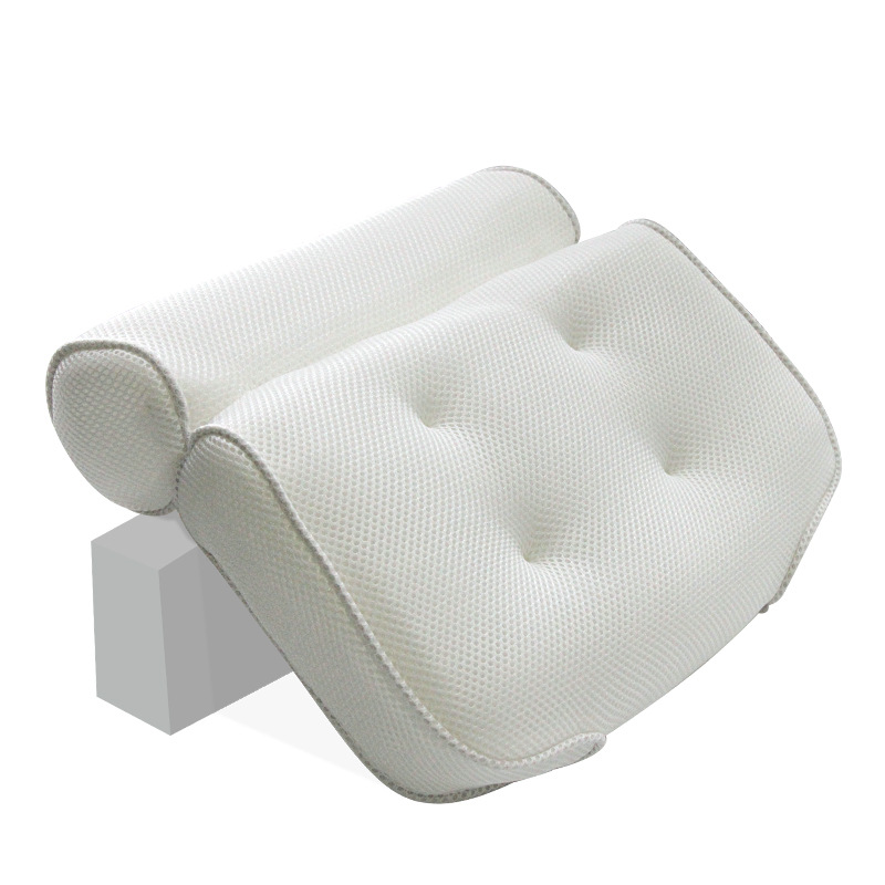 Thickened Bath Pillow Soft SPA Headrest Bathtub Pillow With Backrest Suction Cup Neck Cushion Bathroom Accessories