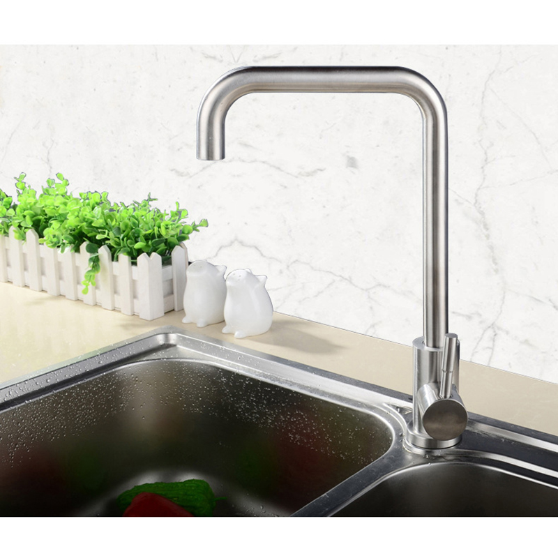 Kitchen Faucet rotating lead free stainless steel kitchen faucet square kitchen mixer kitchen sink square tap