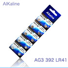 100pcs X LR41 AG3 392A SR41SW 384 LR736 V3GA 192 1.55V Button Coin Cell Battery Batteria For Watch Clocks Laser Pointer torch