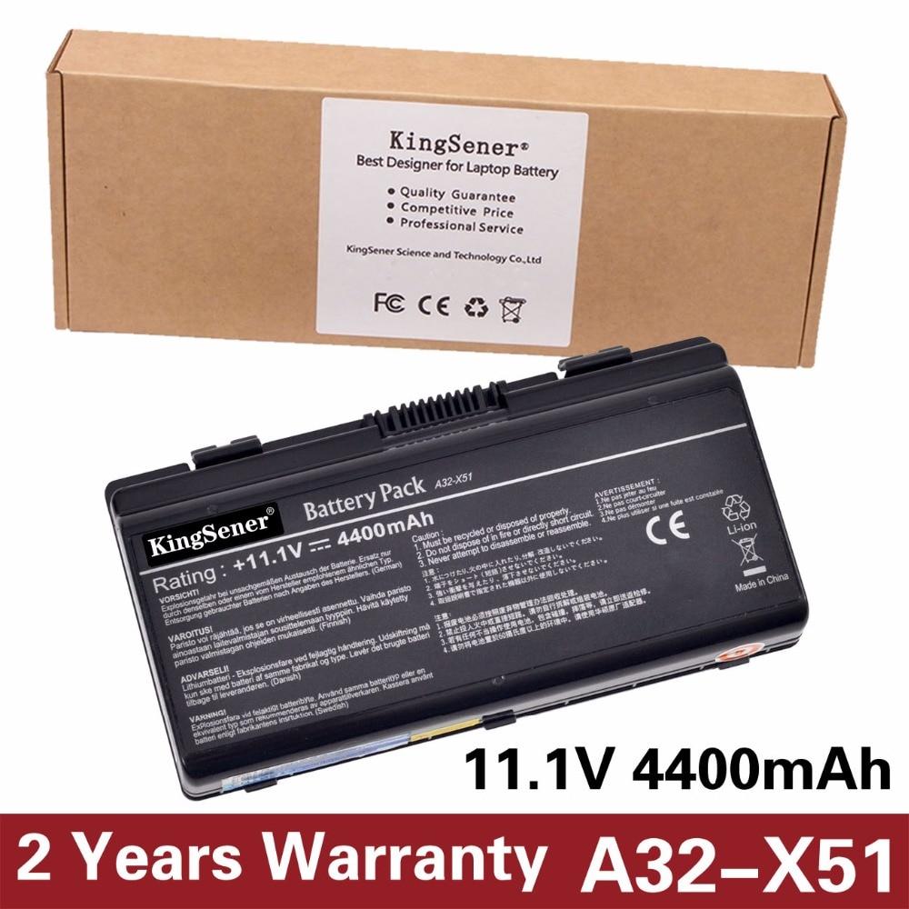 KingSener Korea Cell New Battery A32-X51 for ASUS X58 X50C X58L X58Le X51H X51L X51R X51RL A32-X51 A32-T12 A33-T12 11.1V 4400mAh