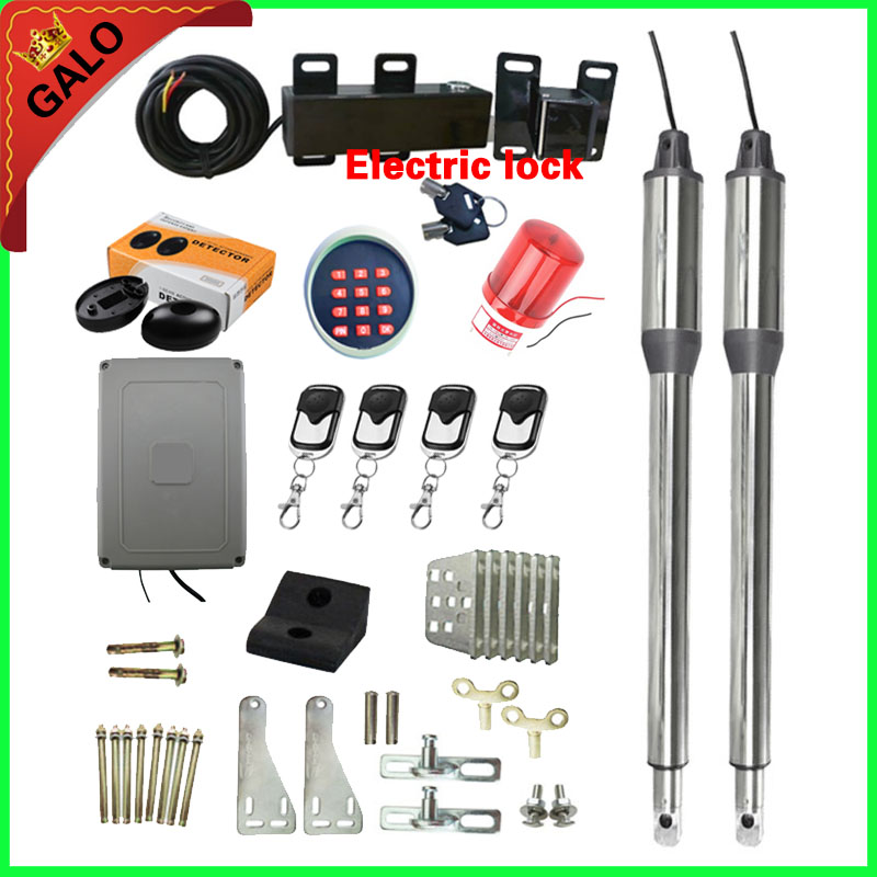 300kg Per Leaf Stainless Steel Swing Gate Opener Kit With Electric Lock For Farm Or Home's Swing Gates