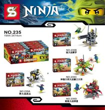 SY235 Super Hero Thunder Swordsman Ninjago Spinjitzu Cole 4Pcs/lot Minifigures Building Block Minifigure Toys Compatible Legoe