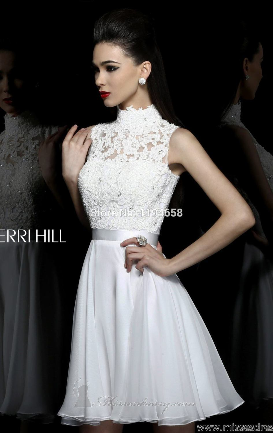 Cozy Free Shipping 2013 Sexy New Short Prom Dresses Pink Beaded Lace Neck Chiffon Graduation Dresses Graduation Forever 21 Dresses Graduation Size wedding dress White Dresses For Graduation