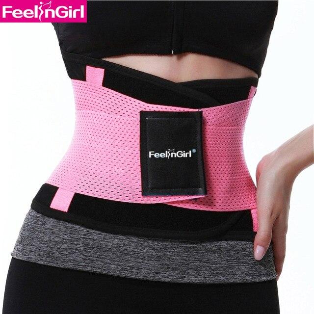 6292a7b5a8c FeelinGirl Fitness Waist Trimmer Women Sexy Postpartum Corset Belt Firm  Slimming Belly Waist Trainer Girdles Body