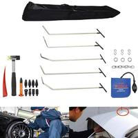 PDR tool Paintless Dent Repair Rod Tools PDR 5pcs Rod Kits with Rubber Hammer for Removal Hail Dents and Door Ding Damage Repair
