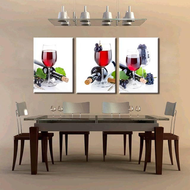 Grape Wine No Frame Spray Painting Living Room Decor HD Printings 3 Panels Modern Canvas Wall Art Hot Sale Product Best Gift