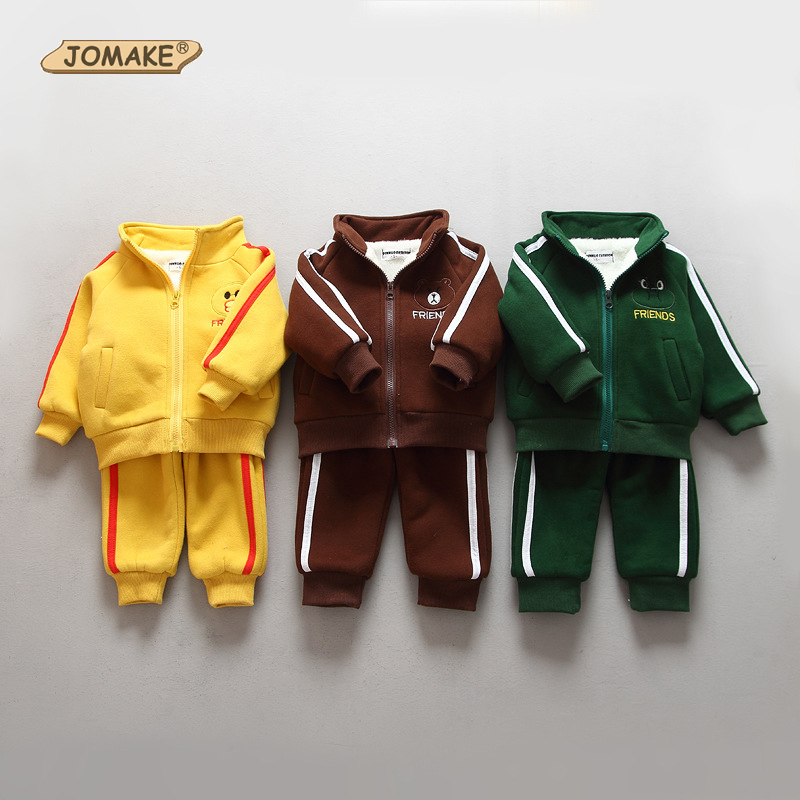 0a81a79b6 Fashion Cartoon Baby Boy Girl Clothing Sets Winter Warm Fleece ...