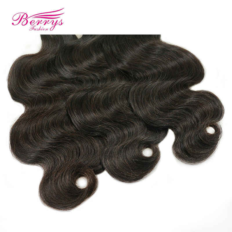 [Berrys Мода] Малайзии Девы волос 100 г Объёмные локоны 10-34 дюймов 1 шт./лот 100% человеческих волос ткать