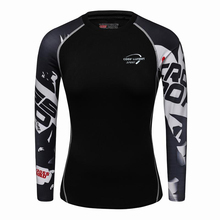2017 New Women girls Compression T Shirts Long Sleeve 3D Print Tee Female Body Weight Lifting