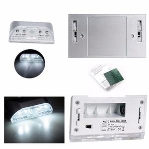 Image 4 - Lamp Night Light Intelligent Auto PIR Door Lock Induction Lamp Door Keyhole IR Motion Sensor Heat Detector 4 LED Smart Light