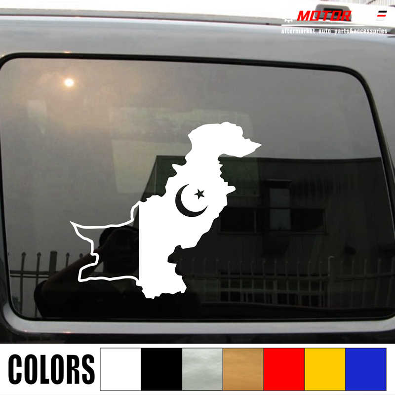 Detail Feedback Questions about Pakistan Flag Map Outline Decal