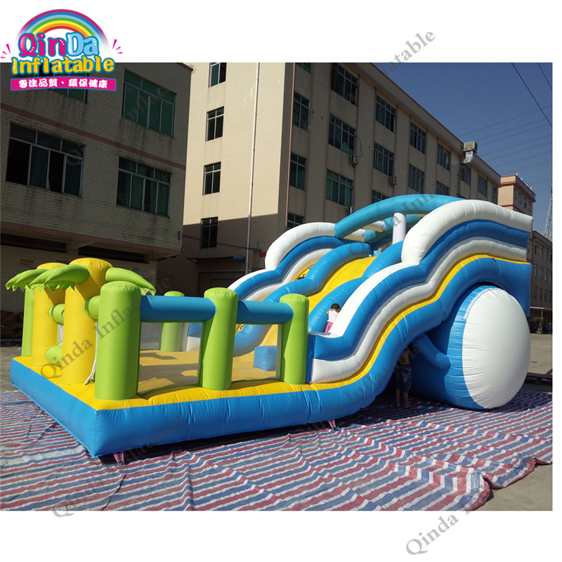 36*18*16ft Commercial PVC Inflatable Bouncer Inflatable Slide Bouncy Castle Combo For Rental недорого