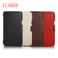 ICARER Luxury Genuine Leather Case For Samsung Galaxy Note 2 N7100 Magnetic Flip Folio Protective Cover
