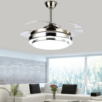 New arrival LED Retractable Ceiling Fan Y4203 Energy Saving Remote Control Fan CEILING FANS with folded blades