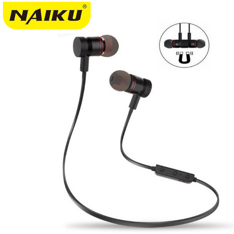 NAIKU Bluetooth Headphones Wireless In-Ear Noise Reduction earphone with Microphone Sweatproof Stereo Bluetooth Headset new sport running bluetooth wireless ear hook earphone super stereo bass headset noise reduction lot ib for android ios phones