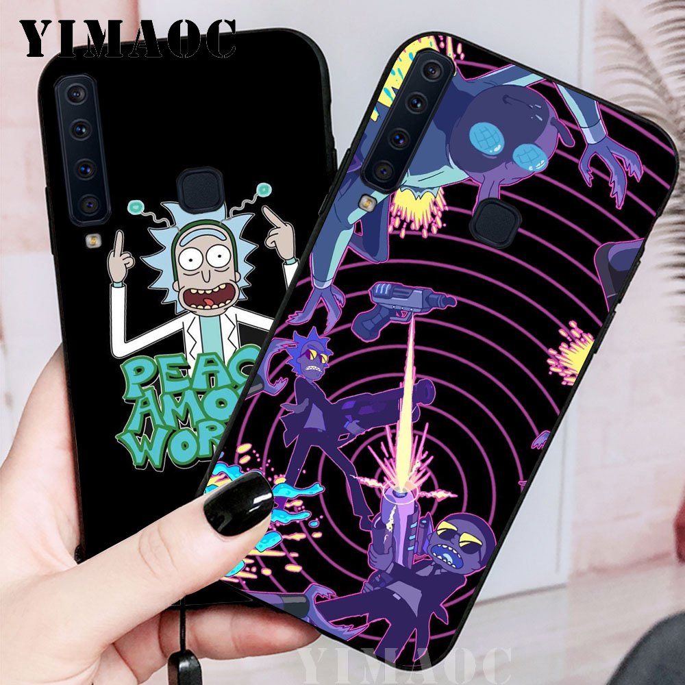 YIMAOC Rick and Morty Soft Case for Samsung Galaxy A3 A5 A6 A7 A8 A9 Plus Note 8 9 A10 A30 A40 A50 A70 in Fitted Cases from Cellphones Telecommunications