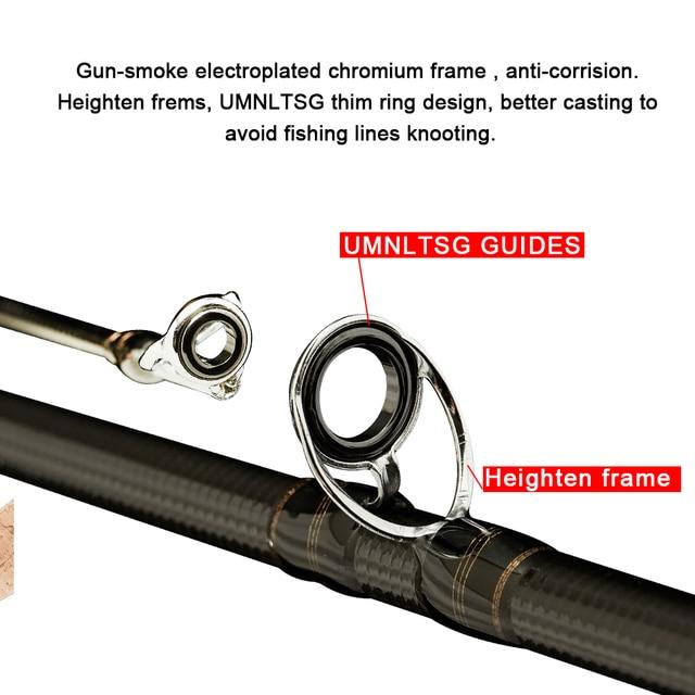 Obei HURRICANE 1.8m 2.1m 2.4m 2.7m 3 section baitcasting fishing rod travel ultra light casting spinning lure 5g-40g M/ML/MH Rod 5