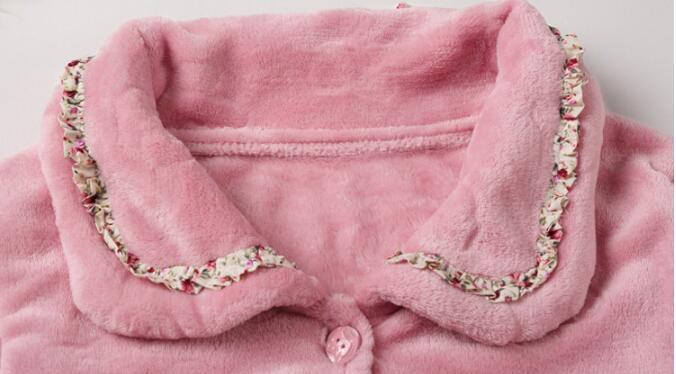 Image 4 - Fdfklak New casual pajamas for women long sleeve flannel pyjamas women large size women's pijamas set thick warm sleepwear suit-in Pajama Sets from Underwear & Sleepwears