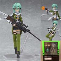 Dessin animé épée Art en ligne Figure Brinquedos Figma 241 Sinon Asada Sao 2 PVC figurine d'action Collection Juguetes modèle enfants jouets 15 cm
