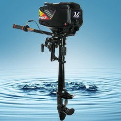 2018 New Design Best Quality 4-stroke 3.6HP HANGKAI outboard motor boat engine inflatable boat motor