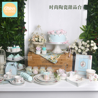 forest wedding ceramic Cake rack pastry cake dish Dessert plate Birthday party cold table tray home decor porcelain figurines