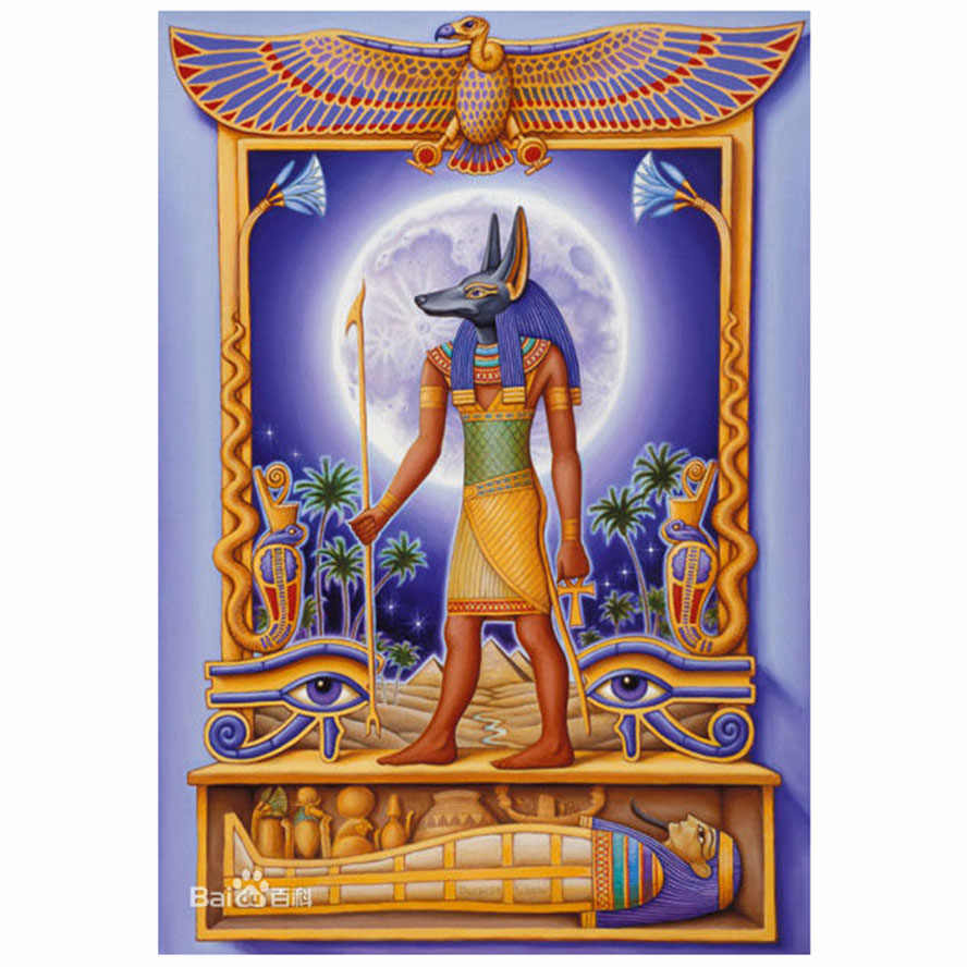 Egypt Religious Anubis,Diamond Embroidery sale 5D DIY Diamond Painting Cross Stitch Rhinestone Mosaic Home Decoration YF2036