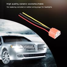 New H4 9003 Car Truck Female Ceramic Headlight Extension Connector Plug Light Lamp Bulb Wire Socket Adapter 12V Hot Selling(China)