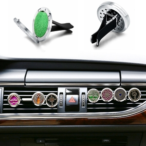 Image 2 - Car Air Freshener Car Perfume Diffuser Clip Car Air Auto Vent Freshener Essential Oil Perfume Locket Natural Wood C011
