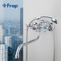 Frap klasyczny prysznic kran długi trunk wanna do łazienki mikser ciepła i zimna woda podwójna kontrola F2227D w Baterie prysznicowe od Majsterkowanie na