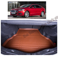 free shipping fiber leather car trunk mat for ford mondeo fusion 4th generation 2014 2015 2016 2017 4-door saloon