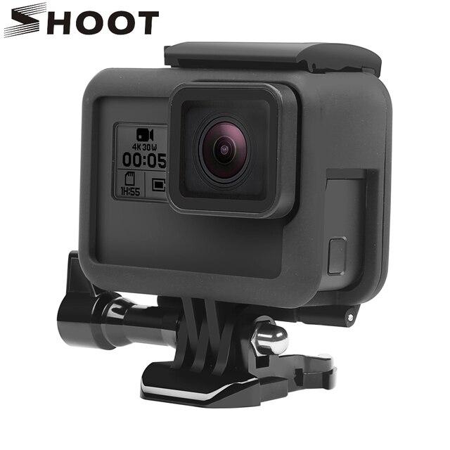 ATIRAR Caso do Quadro de Protecção para GoPro Hero 6 5 7 Beira Câmera Ação Preto Tampa Da Caixa de Montagem para Go pro herói 6 5 7 Acessório