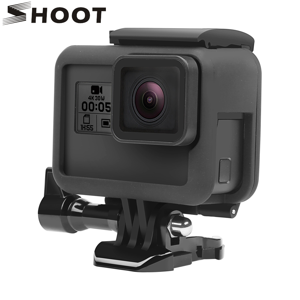 SHOOT Custodia protettiva a telaio per GoPro Hero 6 5 7 Custodia a contrasto nera Action Camera Custodia per Go Pro Hero 6 5 7 Accessorio