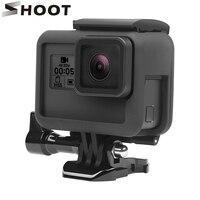 SCHIEßEN Schutz Rahmen Fall für GoPro Hero 6 5 7 Schwarz Action Kamera Grenze Abdeckung Gehäuse Halterung für Go pro hero 6 5 7 Zubehör