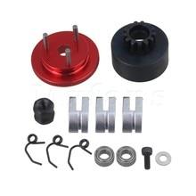 Mxfans Steel N10239 13T Engine Clutch Bell 3 Shoe Flywheel Set with Bearings Springs for RC1:8 Car