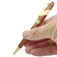 купить Eco Pen Stitching Wood 0.5 mm Black Ink Refill Roller Ball Pens Natural School Office Supplies Writing Materials Joy Corner дешево