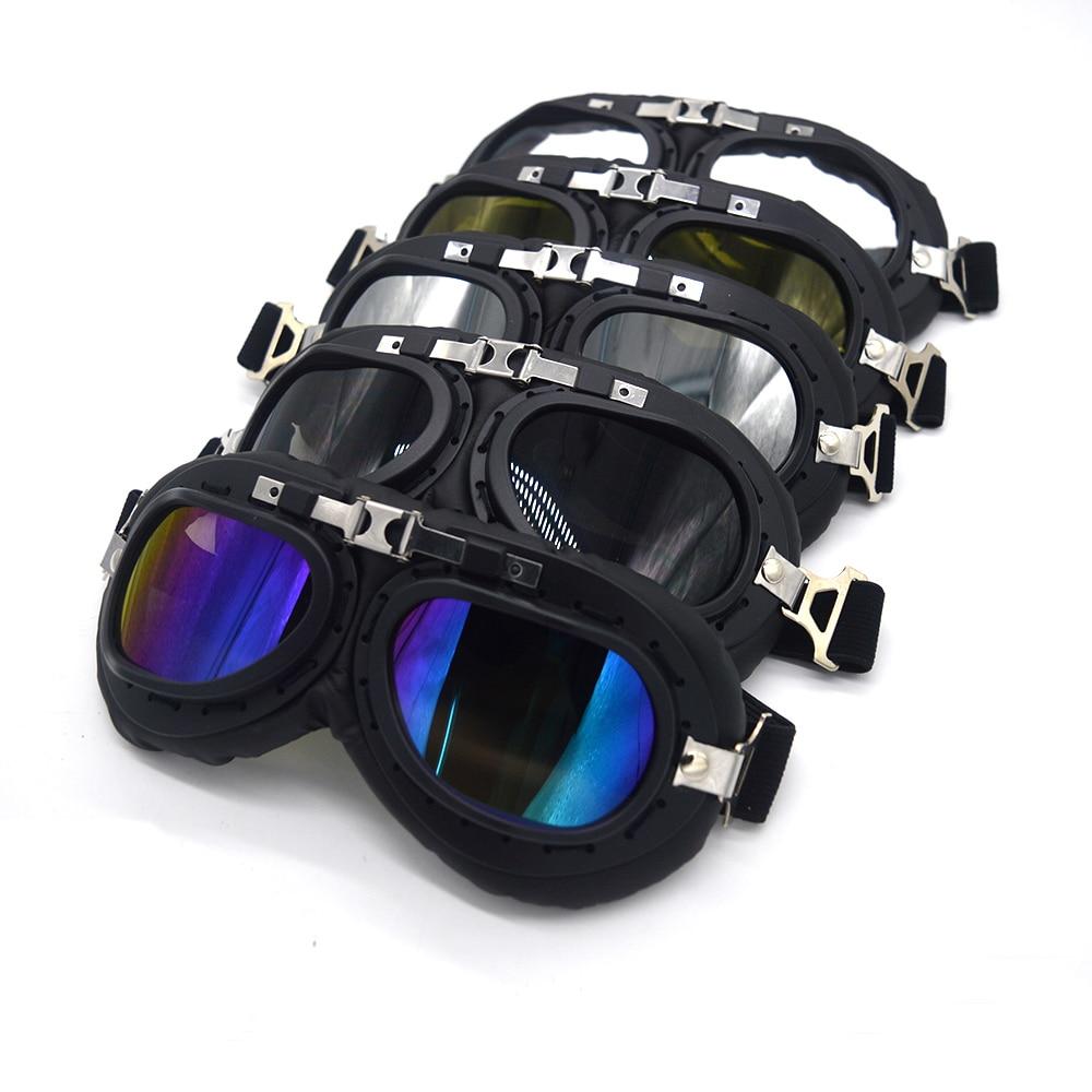 Mooreaxe Motorcycle Goggles Glasses WWII Steampunk Vintage Pilot Jet Helmet Glasses Biker ATV Cycling Ski Sunglasses